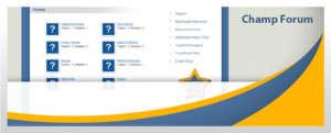 Champs Software website forum screenshot