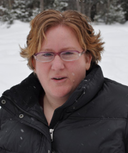 Nora Savard, Champ Software Training and Implementation Coordinator outside in the snow