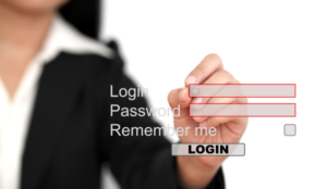 Login, Password and Remember Me fields overlaid over a woman