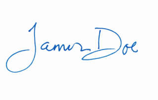 James Doe written as an electronic signature