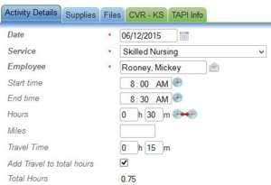 Travel time screenshot