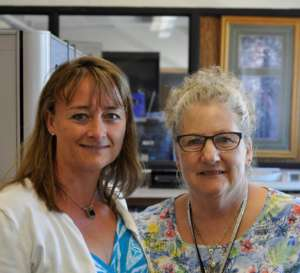 Nicole Sowers, COO, Champ Software & Pat Stewart, Administrator/Director of DVHHS during a site visit in 2014