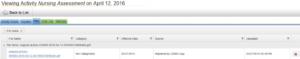 Viewing Activity Nursing Assessment screenshot
