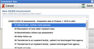 New OASIS Assessment screenshot