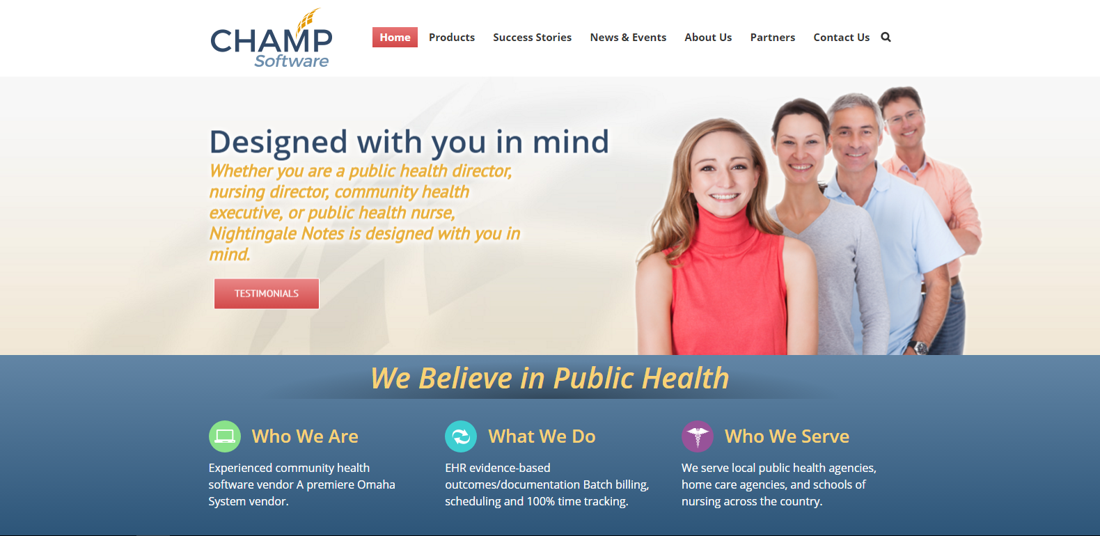 New Champ EHR Software Homepage