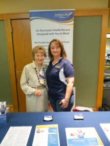 Karen Martin and Nicole Sowers at an event