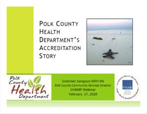 Polk County PHAB Accreditation Journey screenshot