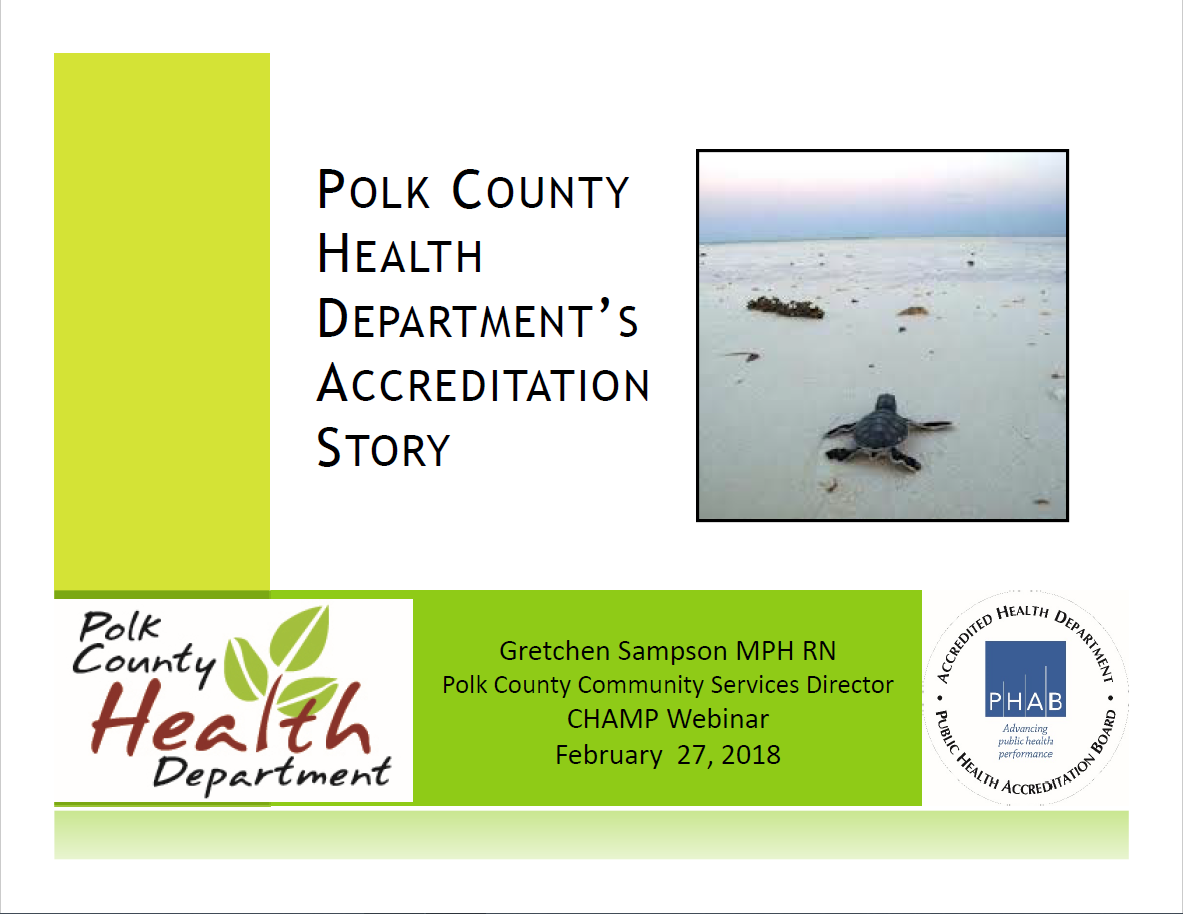 Polk County PHAB Accreditation Journey screenshot