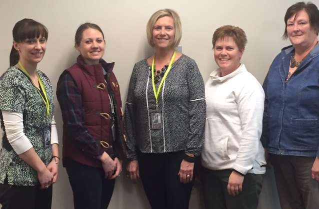 Renville County's 5 Home Care RNs - Britany Egge, Sara Benson, Cindy Firme, Stacey Larson and Laurie Thielen