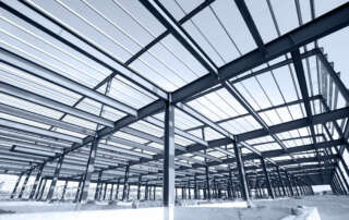 Steel structure depicting framework concept
