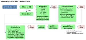 Example Public Health Workflow of Documenting Client Population in an EHR